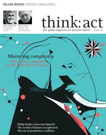think: act magazine - issue 15 - Roland Berger