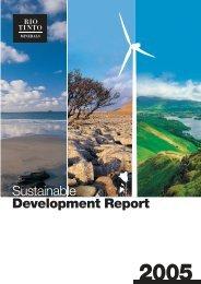 Sustainable Development Report - Rio Tinto