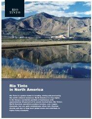 Rio Tinto in North America (PDF 957 KB