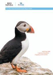 The Rio Tinto Birdwatch Event Report 2006