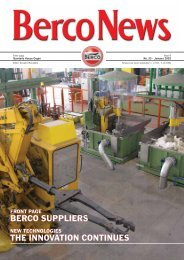BERCO SUPPLIERS THE INNOVATION CONTINUES - Berco S.p.A