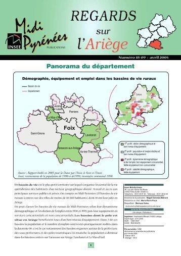 Regards sur l'Ariège - Epsilon - Insee