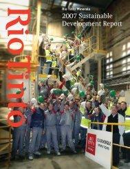 2007 Sustainable Development Report - U.S. Borax