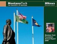 MNews December 2006 - Montana Tech of the University of Montana