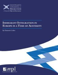 Immigrant Integration in Europe in a Time of Austerity