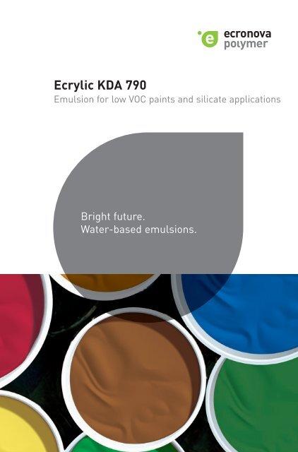 Ecrylic KDA 790 - Die Ecronova Polymer GmbH