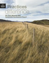 Rio Tinto Minerals 2006 Sustainable Development Report - U.S. Borax