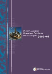 2004-05 Statistics Digest(PDF 2308 kb) - Department of Mines and ...