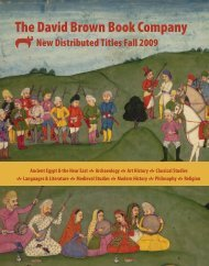 New Distributed Titles Fall 2009 - Oxbow Books