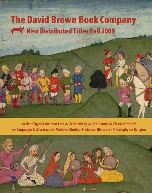 New Distributed Titles Fall 2009 Oxbow Books
