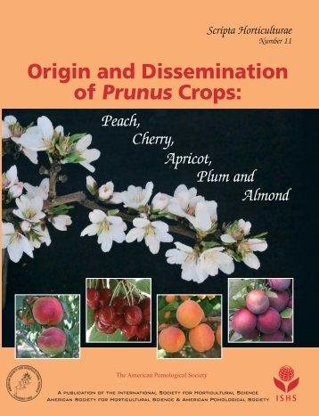Origin and Dissemination of Prunus Crops - Acta Horticulturae