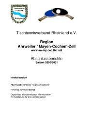 Tischtennisverband Rheinland eV Region Ahrweiler / Mayen ... - TTVR