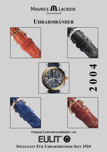 Original-Lederuhrarmbänder - Eulit.de