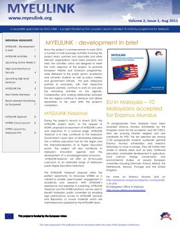 E-bulletin - Issue 1 - MYEULINK