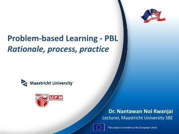 Problem-based Learning - PBL Rationale, process ... - MYEULINK