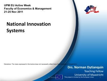 National Innovation Systems - MYEULINK