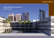 SHEDLIN Middle East Health Care 1 GmbH & Co. KG