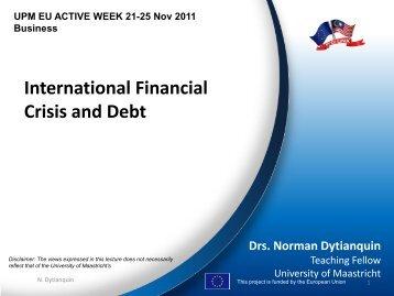 International Financial Crisis and Debt - MYEULINK