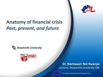 Anatomy of financial crisis Past, present, and future - MYEULINK