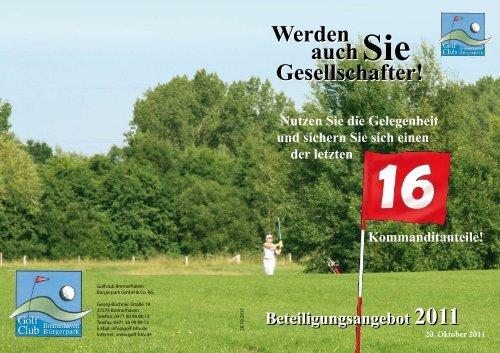 Werden Gesellschafter! - Golfclub Bremerhaven