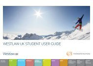 Westlaw UK student user guide - University of Wales