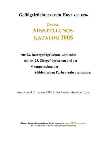 AUSSTELLUNGS- KATALOG 2005 - Beepworld.de