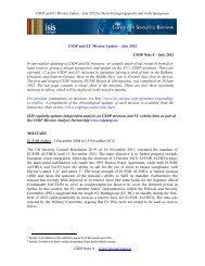 CSDP Note 4 www.isis‐europe.eu CSDP and EU Mission Update ...