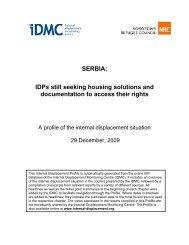 SERBIA - Internal Displacement Monitoring Centre