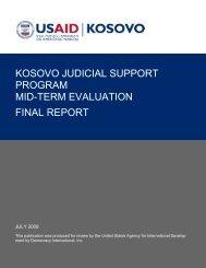 kosovo judicial support program mid-term evaluation final report