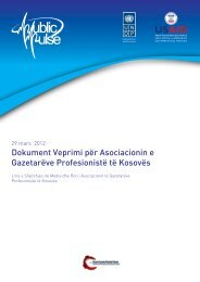 Dokument Veprimi për Asociacionin e Gazetarëve ... - UNDP Kosovo