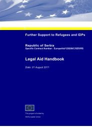 Serbia Handbook for Legal Aid Providers Final