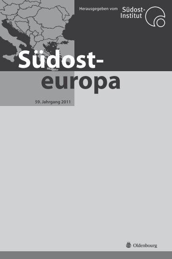 Südosteuropa, Jahresinhaltsverzeichnis 59 ... - Institut für Ost