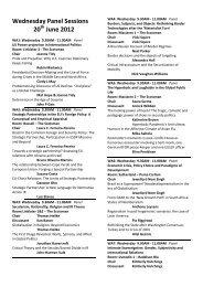 Panel programme - the British International Studies Association