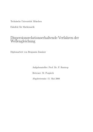 4 Dispersion Relation Preserving - Schema - Lehrstuhl Numerische ...