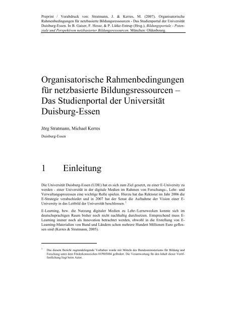 Das Studienportal der Universität Duisburg-Essen 1