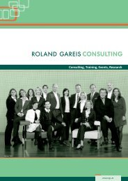 Training, Coaching, Events: Da ist was los - Roland Gareis Consulting