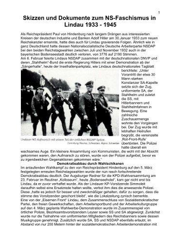 Skizzen NS-Zeit Lindau 1933 - 1945 - edition inseltor lindau