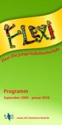 Flexi-Sonderprogramm - vhs Hannover Land