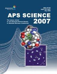 APS Science 2007 - Advanced Photon Source - Argonne National ...