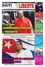 17 octobre: commémoration dans l'indignité! - Haiti Liberte