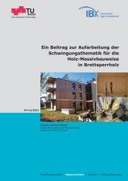 Ein Beitrag zur Aufarbeitung der Schwingungsthematik ... - Holz.Bau