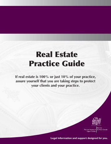Real Estate Practice Guide - Resources for Lawyers - The Law ...