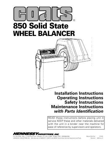 Coats 850 Solid State Wheel Balancer - NY Tech Supply