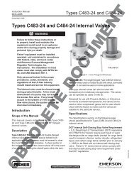 Types C483-24 and C484-24 Internal Valves nternal Valves