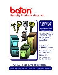 2010.3VP - Vending & Payphone Locks Edition (PDF - Baton Lock ...