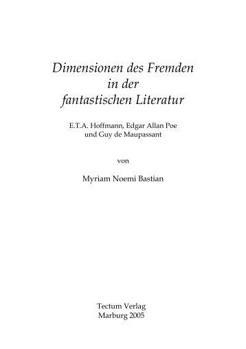 Dimensionen des Fremden in der fantastischen ... - Buchhandel.de