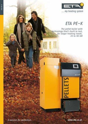 ETA PE-K pellet boiler - Zero Carbon Future