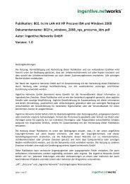 802.1x Port Authentisierung mit HP Procurve IDM - Ingentive ...