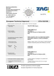 European Technical Approval ETA-10/0190 - Etanco