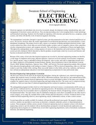ElECtriCal EnginEEring - University of Pittsburgh: Undergraduate ...